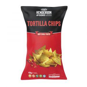 Henderson & Sons Tortilla Chips feuriger Chili Geschmack 450g große Tüte