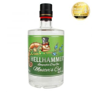 Hellhammer Langenfeld Dry Gin in schöner 500ml Flasche mit Chameleon auf dem Label Masters Cut limitiert