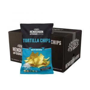 Karton mit 10 Packungen Henderson & Sons Tortilla Chips Salty Natural in 125g