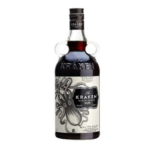 Kraken black spiced Rum in cooler 0,7l Kraken Rum Flasche