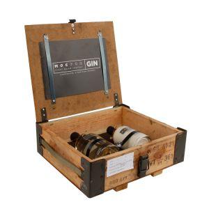 Gin Geschenkset EDEN in echter Militär-Munitionskiste mit 2 Flaschen Inhalt.