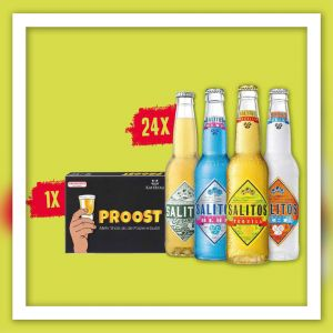 SALITOS Perfect Game Aktionspaket Salitos Flaschen nach Wahl und Trinkspiel Proost Sonerangebot