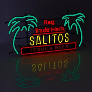 Salitos Neon Sign Tequila Beer Palmen