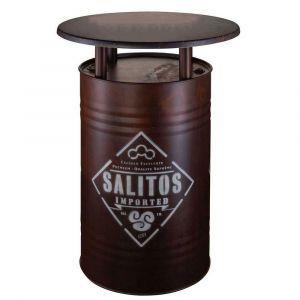 Salitos rostiges Ölfass als Stehtisch Rusty Barrel