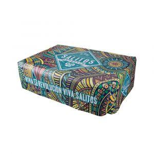SALITOS Palettenhusse Türkis inkl. Schaumstoff 120 cm x 80 cm Bezug für Paletten als Outdoor Sitzfläche seitliche Ansicht