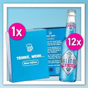 Salitos Trinkspiel Kombination mit Salitos Blue und Kartenspiel Trinke, wenn.. (Blaue Edition)