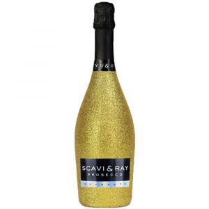 SCAVI & RAY Prosecco Glitzerflasche Gold 0,7l
