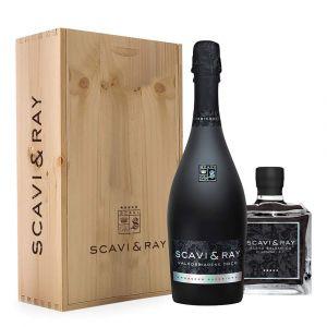 Scavi & Ray Geschenkset mit Prosecco und Balsamico in hochwertiger Holzbox