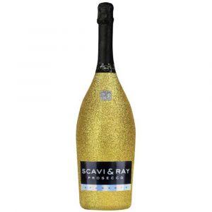 SCAVI & RAY Prosecco Glitzerflasche Gold 1,5l Magnum Edition