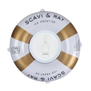 SCAVI & RAY aufblasbarer Schwimmring mit Tablett für Pool
