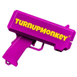 TurnUp Monkey Money Gun lila Partyartikel
